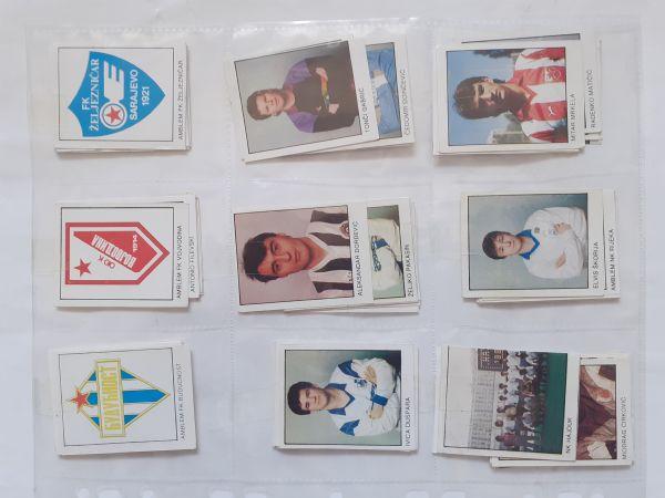 #Lot od 78 vrlo dobrih različitih sličica Fudbal 90 od 1 kune!